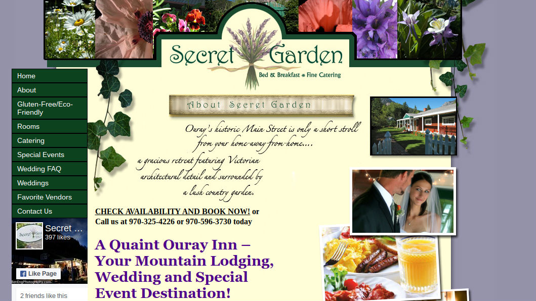 Secret Garden Bed & Breakfast Fine Catering