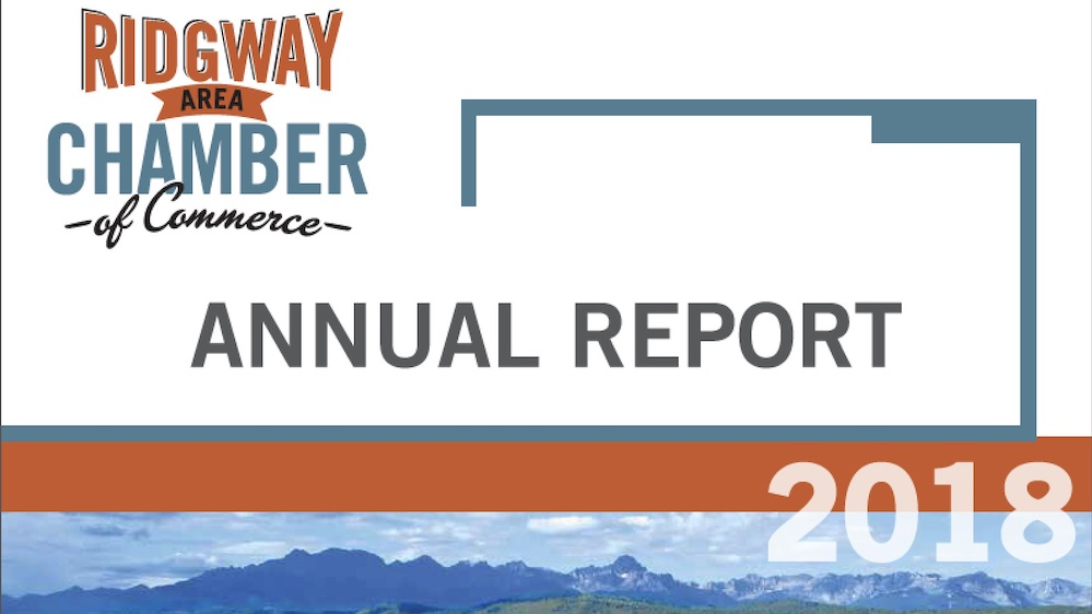 Ridgway Chamber Releases 2018 Annual Report