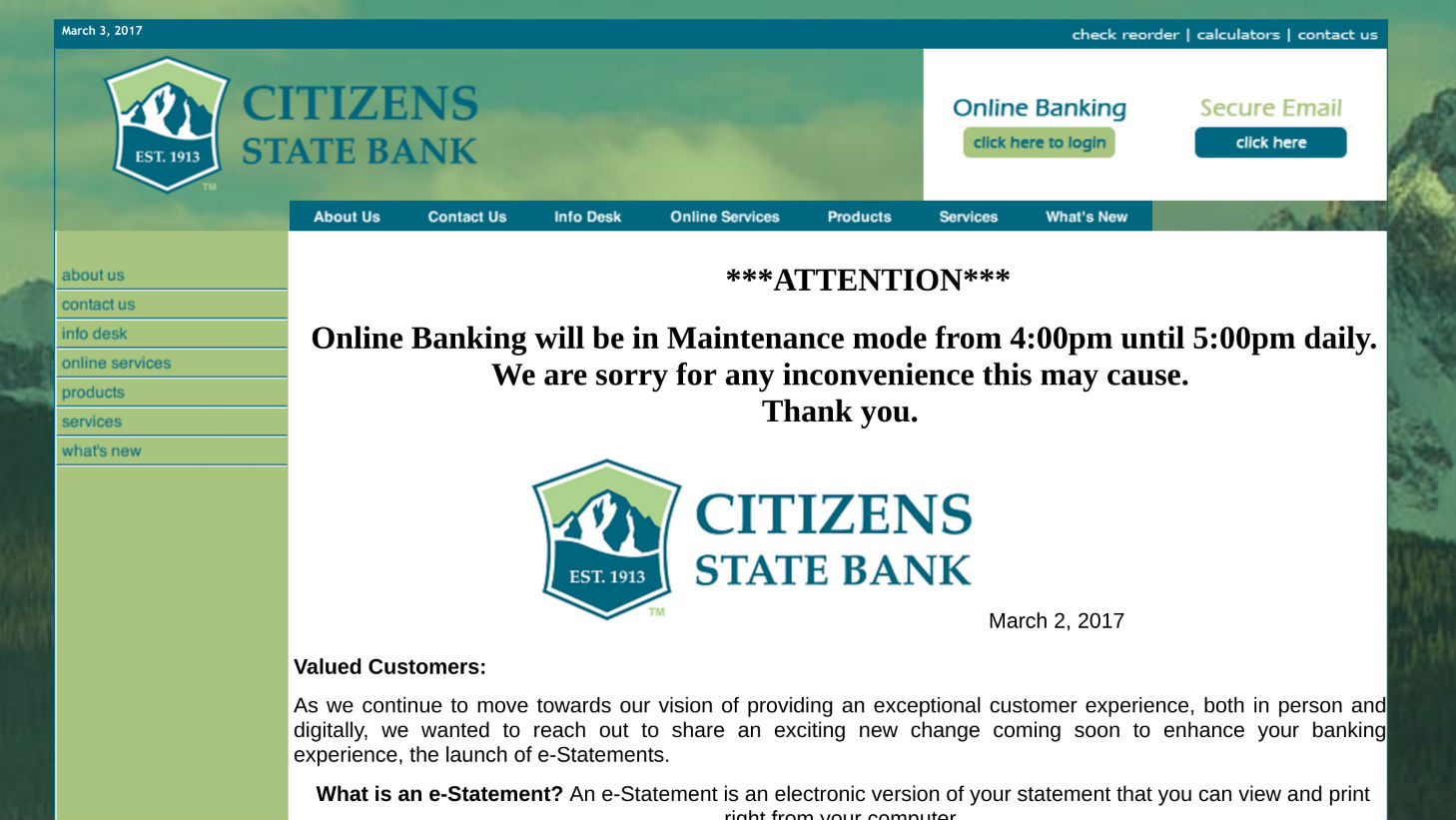 Citizens State Bank Ridgway