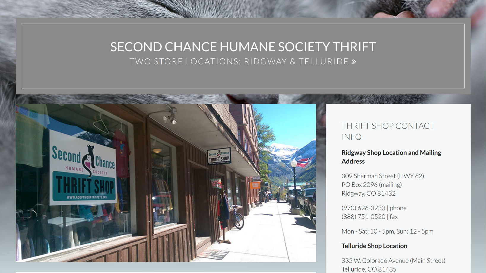 Second Chance Humane Society Thrift Shop