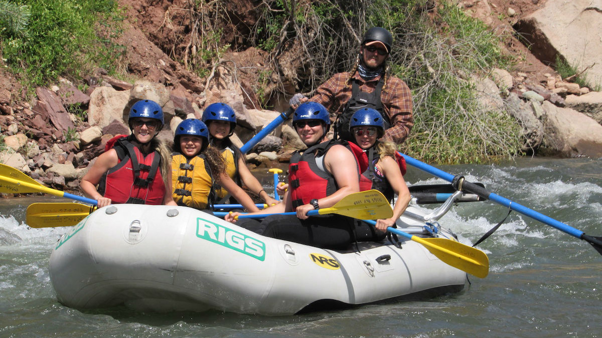 Family rafting provided by RIGS Adventure